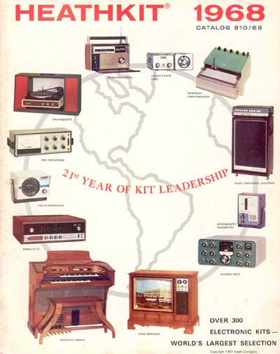 Front cover of 1968 Heathkit catalog